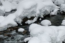 Free Creek With Snow Stock Image - 4142981