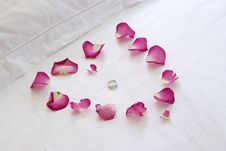 Free Rose Petal Heart Royalty Free Stock Images - 4143239