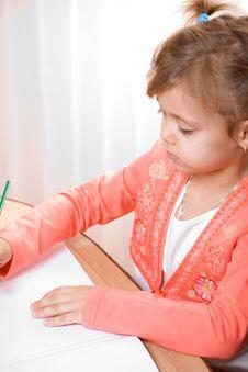 Free Pretty Caucasian Child Paint Stock Photo - 4143320