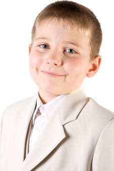 Free Portrait Of Well-dressed Smiling Boy Stock Photo - 4143450