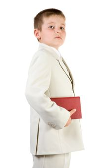 Free Well-dressed Pride Boy Hold Book Royalty Free Stock Image - 4143516