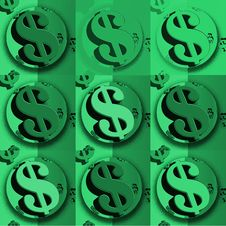 Free Dollar Green Dollar Sign Stock Photo - 4143540