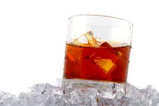 Free Whiskey On Rocks Royalty Free Stock Photography - 4143547