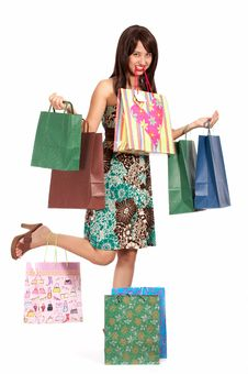 Free Beautiful Shopping Girl Stock Photos - 4144423