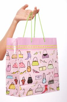 Free Shopping Design Bag Royalty Free Stock Images - 4144459
