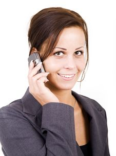 Free Woman Talking On The Phone Royalty Free Stock Images - 4144889