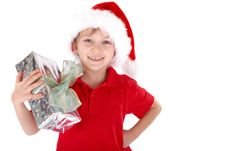 Boy As Santa Claus Royalty Free Stock Photos