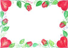 Free Valentine Card Border Royalty Free Stock Images - 4146059