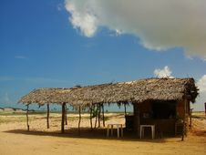 Free Thatched Hut Royalty Free Stock Image - 4146286