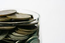 Free Coins In Glass Stock Photography - 4146642
