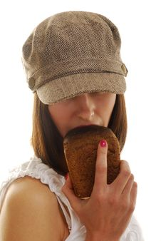 Free Portrait With Bread Royalty Free Stock Photo - 4147685