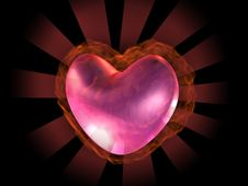 Free 3D Burning Heart Royalty Free Stock Photos - 4147798