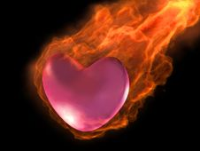 Free 3D Burning Heart Stock Photos - 4147813
