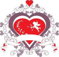 Free Cupid And Heart Stock Photos - 4147923