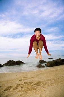 Happy Jump Man Stock Photos