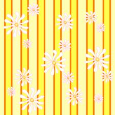 Free Yellow Pattern:daisies Stripes Stock Photo - 4148070