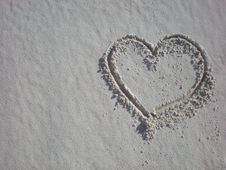Free Heart In The Sand Royalty Free Stock Image - 4148156