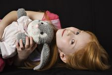 Free Girl With Toy Stock Photography - 4148312