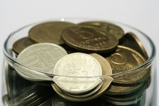 Free Coins In Glass Stock Image - 4148581