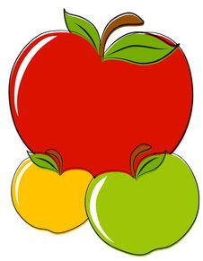 Red Green Yellow Apples Clip Art Stock Photos