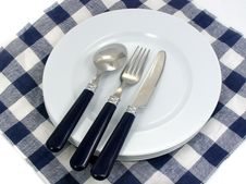 Free Served Table For Eating In Cafe Royalty Free Stock Photo - 4149045