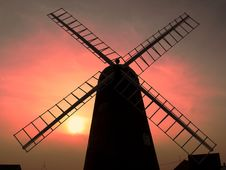 Windmill Sunset Royalty Free Stock Image