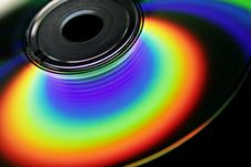 Free Rainbow On The CD Royalty Free Stock Photography - 4149147