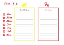 Free Grocery Shopping General Week S Planner Royalty Free Stock Photos - 4149268