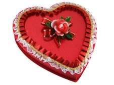 Valentines Chocolates Box Royalty Free Stock Images