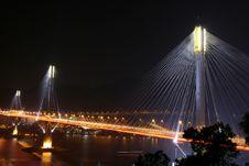 View Of Tsing Ma Bridge Stock Image