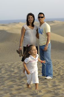 Free Happy Family On Vacation Stock Photography - 4149712