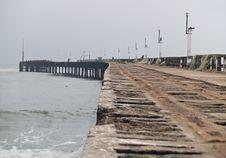 Free Old Footbridge In The Harbor Stock Photo - 4150100