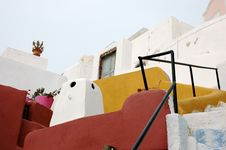 Free Stairs To Santorini Royalty Free Stock Photos - 4150348