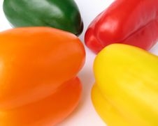 Free Four Multiple Colored Peppers Stock Image - 4150681