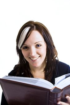 Free Young Woman Reading A Book Royalty Free Stock Photography - 4150797