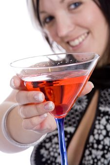 Free Martini Girl Royalty Free Stock Photo - 4150865