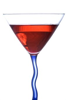 Free Red And Blue Martini 2 Stock Images - 4151024