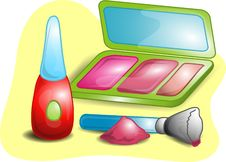 Free Beauty Set Illustration Royalty Free Stock Images - 4151169