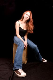 Free Beautiful Redhead Seated Stock Images - 4151314