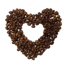 The Heart Symbol Made From Coffee Beans Royalty Free Stock Photography