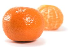 Free Two Tangerines Royalty Free Stock Photography - 4151387