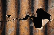Free Rusted And Crushed Sheet Stock Photography - 4151422
