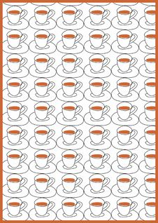 Free Patterns With Cups Royalty Free Stock Photo - 4151805