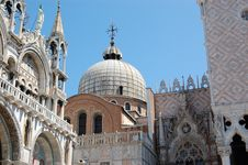 Venice, Doge P. And Basilica Stock Photos