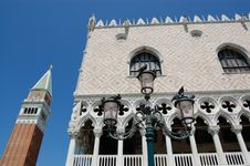 Free Venice, Doge Palace And Tower Stock Photo - 4152790
