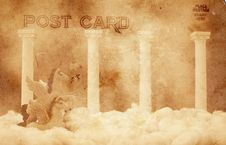 Free Vintage Postcard Royalty Free Stock Photos - 4153398