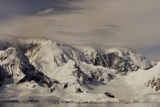 Mountains Of The Antarctic Stock Photography