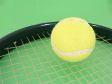 Free Tennis Ball And Racket Stock Images - 4153474