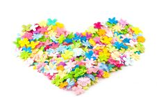 Free Spring Floral Heart Royalty Free Stock Image - 4153966
