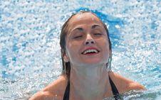 Free Woman Enjoy Swiming Royalty Free Stock Image - 4154636